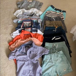 Large lot of toddler boys 4T clothes